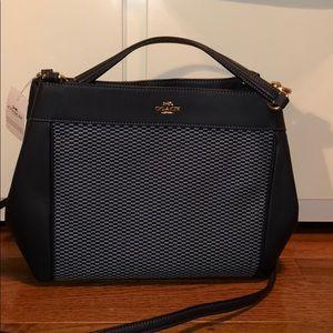 Coach shoulder bag with removable strap